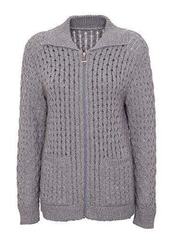 Lets Shop Shop Damen Strickjacke Grau silber 42 -
