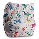 Littles & Bloomz, Reusable Pocket Cloth Nappy, Fastener: Popper, Set of 1, Pattern 35, Without Insert