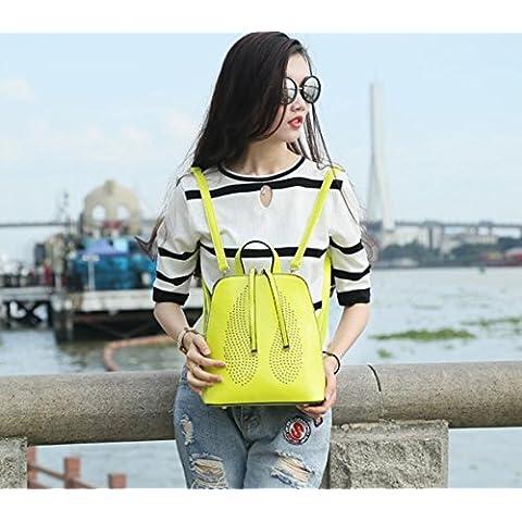 GQQ NUEVOS bolsos de hombro bolsos moda Dacron PU para la parte comercial y lugar de trabajo hasta 7.5 L GQ bolso @ , lemon yellow
