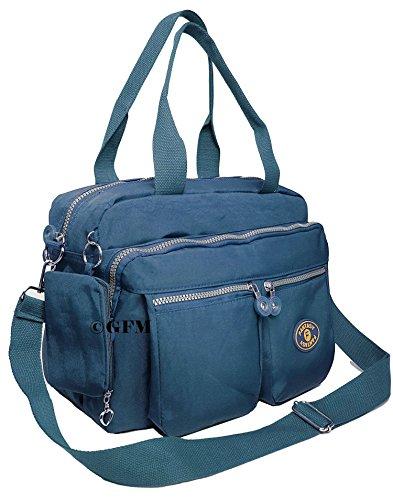 GFM Nylon-Tragetasche, 3 Fächer Style 2 - Jeans Blue (658JNSNL)