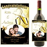 Personalised WINE / CHAMPAGNE BOTTLE PHOTO LABEL ~ Wedding Engagement Congratulations Gift Idea N16