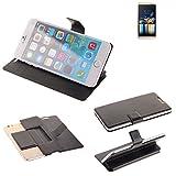 K-S-Trade Schutz Hülle für Switel Champ S5003D Schutzhülle Flip Cover Handy Wallet Case Slim Handyhülle bookstyle schwarz