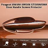 [6 Pcs] Peugeot 308/308 SW / 308 GT / 3008/5008 Auto Poignée Scratch Protecteur De Voiture Autocollant Porte Bol Protection Film Décalque