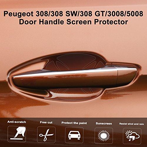 LFOTPP Schutzfolie für Peugeot 308/308 SW/308 GT/3008/5008 Türgriffmulden