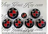 Schwarz & Rot M Sport Badge Emblem Overlay puze Trunk Felgen passend für alle