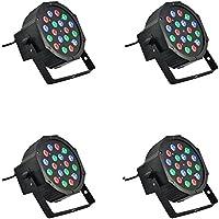 4x Foco 18W RGB Sensor sonoro 18LED varios colores Discoteca luz multicolor