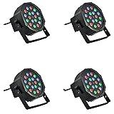 4x Scheinwerfer 18W RGB Sensor Sound 18LED verschiedene Farben Disco Licht bunt