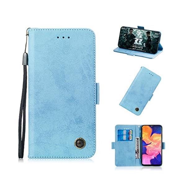 SEYCPHE Funda Samsung Galaxy A10 Carcasa Libro de Cuero Ultra Delgado Billetera Cartera [Ranuras de Tarjeta,Soporte… 2