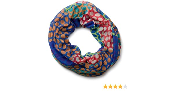 Farbenfroher Loop Tuch Schlauch Schal Blumen Streifen blau bunt Neu !