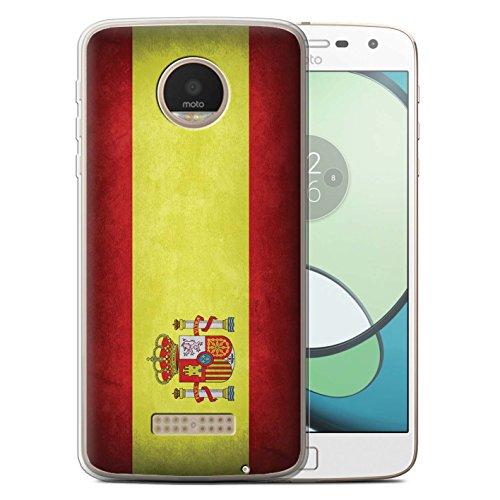 Carcasa/Funda STUFF4 TPU/Gel para el Motorola Moto Z Play/Droid / serie: Banderas - España Español