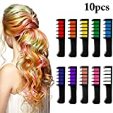 Kapmore 10PCS Hair Chalk Comb Creative DIY Temporary Hair Color Comb Hair Beauty
