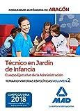 Técnicos en Jardín de Infancia del Cuerpo Ejecutivo de la Administración de la Comunidad Autónoma de Aragón (Escala de Ayudantes Facultativos). Temario de materias específicas 2