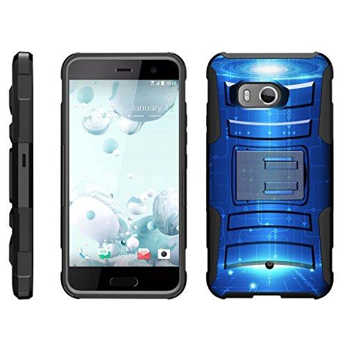 turtlearmor | Kompatibel für HTC U11Fall | HTC Ocean Fall [Hyper Schock] Armor Rugged Hybrid Auswirkungen Silikon Holster Gürtelclip Cool Designs -, Blue Technology