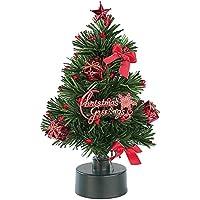 PEARL Mini Weihnachtsbaum: LED-Weihnachtsbaum mit Glasfaser-Farbwechsler (Weihnachtsbaum fürs Auto)