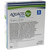 AQUACEL Ag+ Extra 10x10 cm Kompressen 10 St Kompressen preisvergleich bei billige-tabletten.eu