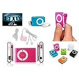 DISOK - Mp3 Player Clip + Auriculares + Cable USB En Caja - Reproductores MP3 Originales. Detalles, Regalos Y Recuerdos para Comuniones, Bodas y Bautizos niños y Adultos