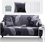 T&Q Fashion Stretch Sofa Slipcover, Elastic Fabric Printed Armchair Loveseat Couch 2/3 Seater Living Room