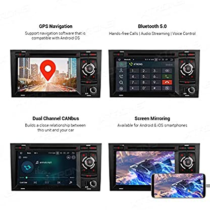 XTRONS-7-Android-90-4GB-RAM-64GB-ROM-Autoradio-mit-Touch-Screen-Octa-Core-Multimedia-Player-untersttzt-4G-WiFi-Bluetooth-DAB-OBD2-TPMS-Musik-Streaming-Plug-und-Play-FR-Audi-A4S4RS4