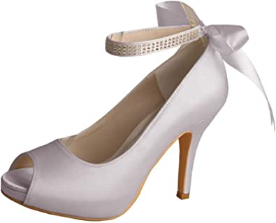 Wedopus MW567 - Scarpe da donna con cinturino alla caviglia, con plateau e tacco alto