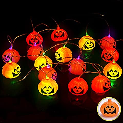ShallGood Minetom Halloween Bar Party Deko Zuhause Verkleiden Sich Papier Led Laternen Fledermäuse Spinnen Skelette Kürbisse Weiß Mehrfarbig String In Serie Mehrfarbig Led (Stecker) One Size