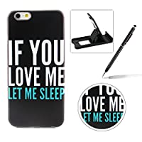 For iPhone 5C [Perfect-Fit] Case,For iPhone 5C TPU Silicone Soft Gel Bumper Case Cover,Herzzer Fashion Ultra Slim [If You Love Me Pattern] Full Protection Bumper Scratchproof Flexible Rubber Jelly Protective Back Cover Case For iPhone 5C + 1 x Black Cellphone Kickstand + 1 x Black Stylus Pen