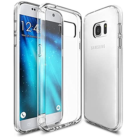 Samsung Galaxy S7 Bumper Case, UCMDA Ultra Thin Shock Resistant Protective Case [Soft Silicone TPU] Drop Protection Clear Gel Back Cover for Samsung Galaxy S7 - Crystal
