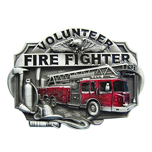 Urban Backwoods Volunteer Fire Fighter III Gürtelschnalle für Wechselgürtel Buckle - Firefighter Gürtelschnalle