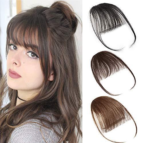 Air Pony Hair Clip In Pony Echthaar 100{34779ed7fa4bcdffa891aa9e89c7a0e73c9ac1c5f27506665fdc284318021e11} Real One Stück Haar Extension mit Seite Tempel #4 Mittel braun