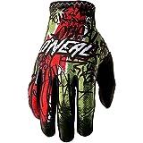 O'Neal Matrix Handschuhe Vandal Grün Rot MX MTB DH Motocross Enduro Offroad, 0388M-4, Größe S