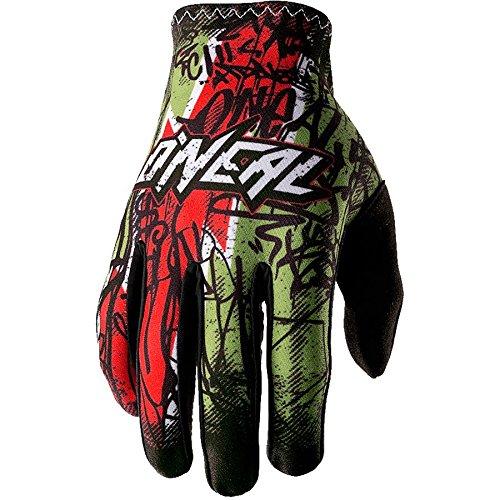 guanti mtb oneal O Neal Matrix Handschuhe Vandal Grün Rot MX MTB DH Motocross Enduro Offroad