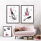 Cils Salon De Beauté Affiches Et Gravures Mur Art Toile Peinture Mur Photos Cils Cils Bar Boutique De Cosmétiques Décor / 40x50cmx3Pcs-pas de cadre...