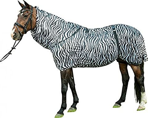 HKM Eczema Rug Zebra With Adjustable Neck Cover Stretch Horse