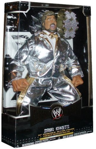 World Wrestling Entertainment WWE Collector Series 1 Super Stars Classic Ring Giants 14 Inch Wrestler Figure - Ted Dibiase Million Dollar Man with Silver Suits, Belt and 13 Points of Articulation by Jakks Pacific