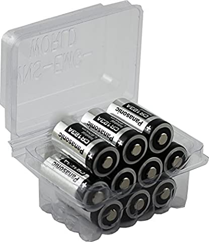 10 Pièces Panasonic CR123A Photo Lithium Pile 3 Volt Big Box Pack Wns-emg-world
