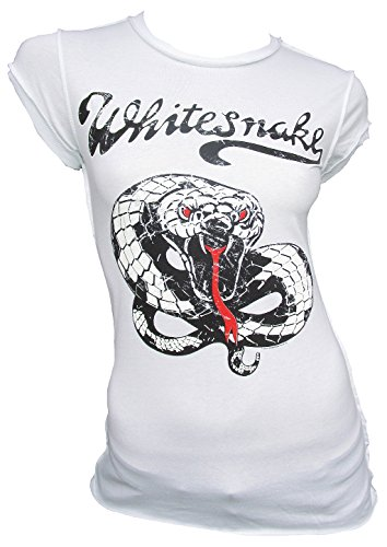 Amplified T-shirt da donna bianco Official Whitesnake Snake Serpente Rock Star Vintage bianco M