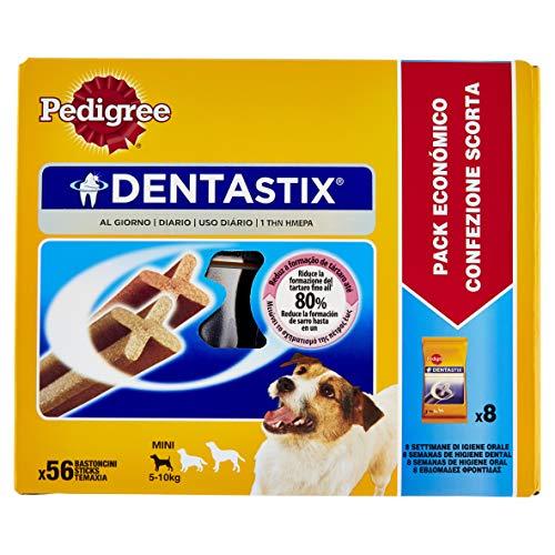 Pedigree DentaStix Hundesnack für kleine Hunde (5-10kg), Zahnpflege-Snack mit Huhn und Rind, 1 Packung je 56 Stück (1 x 880 g) - 3