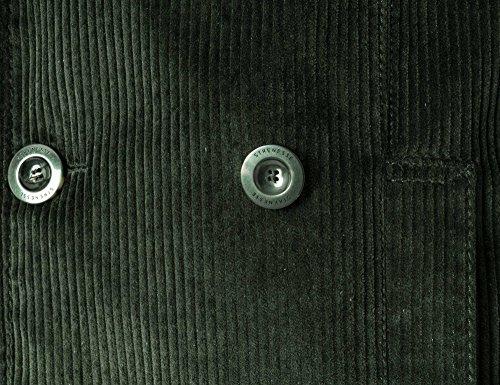 STRENESSE Messieurs Blouson en velours côtelé Collection d'hiver vert foncé