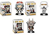 Funko POP! Star Wars: Rio Durant + Range Trooper + Enfys Nest – Disney Stylized Vinyl Bobble-Head 3 Figure Bundle Set NEW