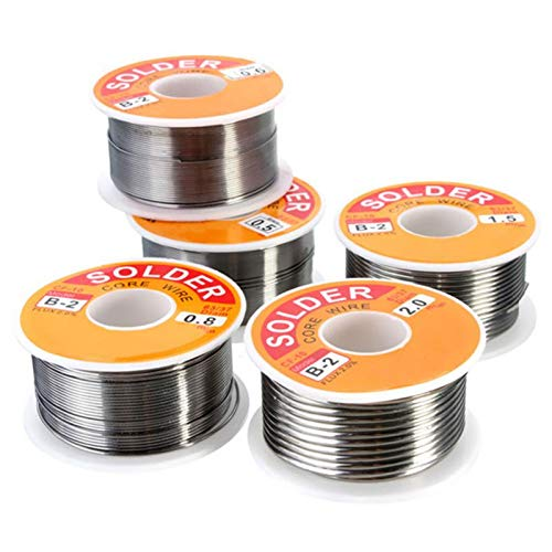 Welding Wires - Electrical Welding Cable Electronics Assembly Wires 100g 63 37 Tin Lead Rosin Core 0.5 2mm 2 Flux - Wires Welding Welding Wires Line Fish Flux Wire Lead Solder Lure Free Re (Assembly Reel)