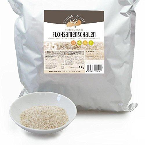 Flohsamenschalen 95% Reinheit, geprüfte Lebensmittelqualität 1 kg Beutel
