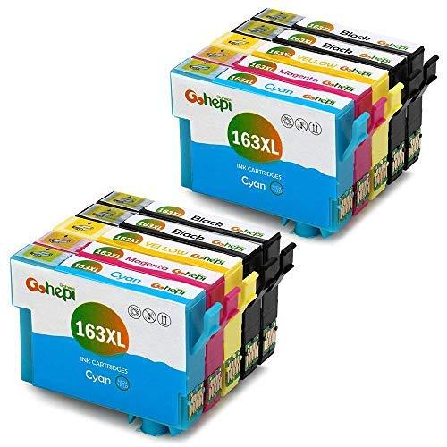 Gohepi 163XL Cartucce Compatibili Epson 16 16XL per Epson WorkForce WF-2630 WF-2510 WF-2760 WF-2660 WF-2530 WF-2750 WF-2650 WF-2520 WF-2540 WF-2010 - 4 Nero/2 Ciano/2 Magenta/2 Giallo,Confezione da 10