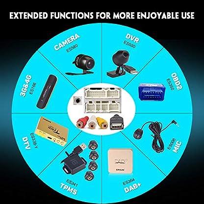 Erisin-Android-90-8-DABAutoradio-DVD-fr-VW-Golf-56-Plus-Beetle-Caddy-Bora-Polo-Passt-Jetta-Tiguan-Touran-SEAT-Skoda-untersttzt-BT-WiFi-SWC-A2DP-RDS-DABDVB-T2-PX30-2GB-RAM16GB-ROM