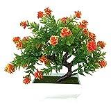 Duoying Simulierte Pflanze Topfrose, Hochwertige, personalisierte Dekoration, Mode-Konfiguration, mit bunten Verzierungen für Ihr Zimmer, Büro, Einkaufszentrum, Hochzeit, Party