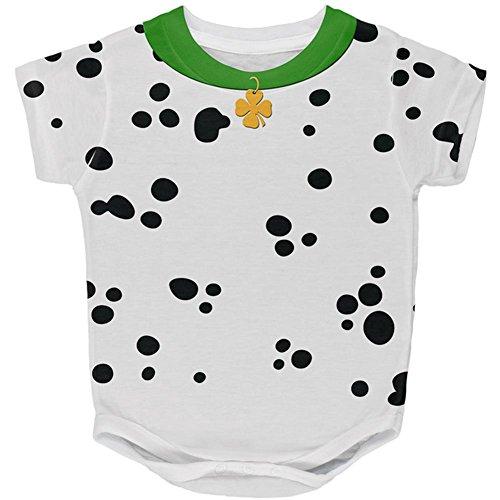 Shirts Tag Kinder Für Patricks St (St Patricks Tag Hund Dalmatiner Kostüm grüner Kragen Shamrock auf der ganzen Baby One Piece Multi 24)