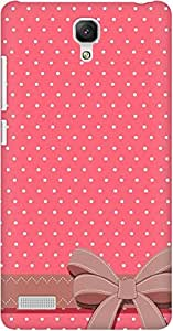 AMEZ designer printed 3d premium high quality back case cover for Xiaomi Redmi Note 4G (polka dot bow)