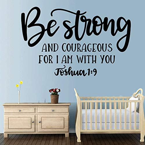 tong99 DIY Be Strong Quotes Vinyl Wall Sticker Decoración para el hogar Stikers para Habitaciones de bebés para Habitaciones de niños DIY Home DEC 28x42cm