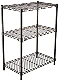 AmazonBasics 3-Shelf Shelving Unit-Black