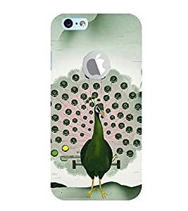 Print Masti Designer Back Case Cover for Apple iPhone 6 (Logo View Window Case) (Live Performance Beautiful Crown Neck Feather)