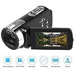 Camera Camcorder Full HD 1920 x 1080P 3.0inch 24M Portable Anti-shake Digital Video Camcorder, Touch Screen, 270 Degree Rotation, DV Digital Cameras