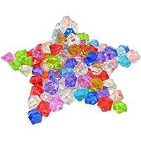 KAKOO 120 pcs Diamantes acrílico Juguete de Ice Rocks de Color Vario para los niños del Juego y adornar la Boda, Mesa
